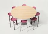 De Vorm hoge ronde vergadertafel _