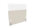 Bureauwand akoestisch met plexiglas bovendeel_