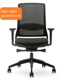 Gispen Bureaustoel Zinn Smart 2.0 met zwart kunststof onderstel_
