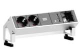 DESK 2 - 2x 230V, 2x USB, 1x custom