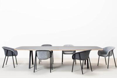 De Vorm Big hoge rechthoekige vergadertafel