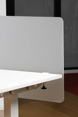 plexiglas scheidingswand met bladklem