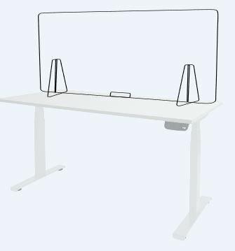Plexio 180 x 65 cm bureauscherm