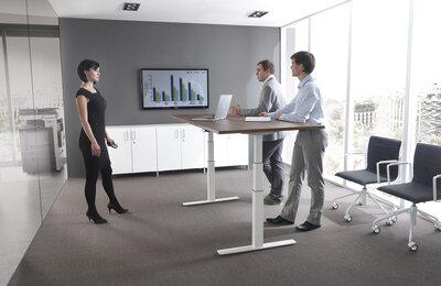 Mikomax zit sta bureau Balance HIGH - slingerverstelbaar of elektrisch