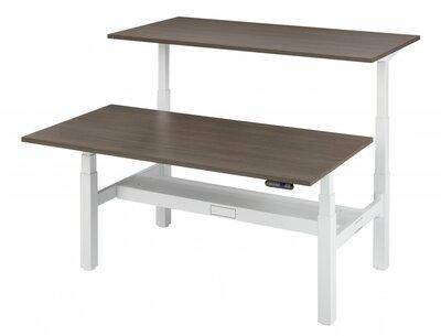 Flexdesk zit sta bureau Duo Bench HVE1618B - elektrisch