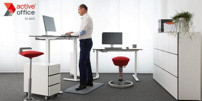 Zit sta bureau met gratis active sta mat
