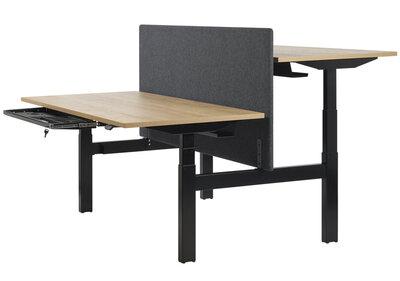 Akoestische tussenwand - t.b.v. Cube Bench zit sta bureaus