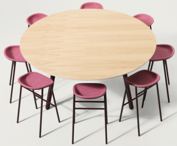 De Vorm Big hoge ronde vergadertafel