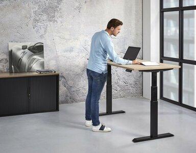 Elektrisch zit sta bureau 140 x 80 cm - Tijdelijk verlaagd in prijs.