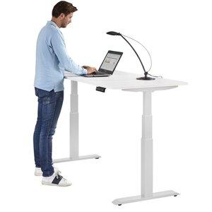 Top zit sta bureau - elektrisch tot 130 cm hoog nu extra voordelig!