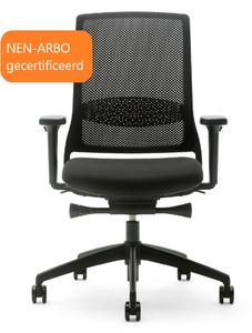 Gispen Bureaustoel Zinn Smart 2.0 met zwart kunststof onderstel