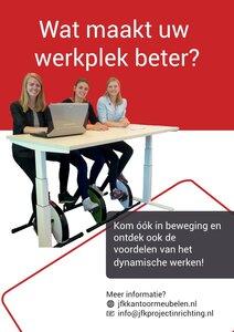 Zit sta bureau - elektrisch, inclusief Deskbike actie!