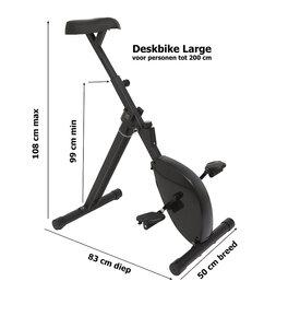 Deskbike - bureaufiets - XL - zwart