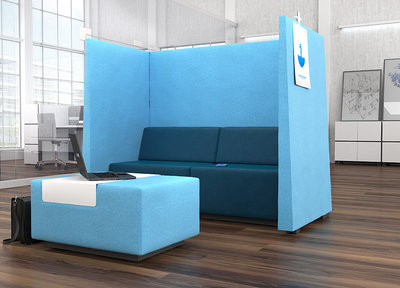 Akoestische loungebank Milani